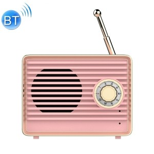 [IT] Radio Stile Vintage Speaker Altoparlante Bluetooth (Rosa)